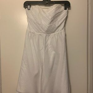 White strapless Express dress